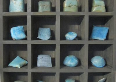 Turquoise Shelving Art Collection